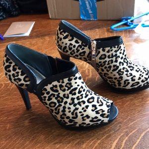 Alfani leopard booties